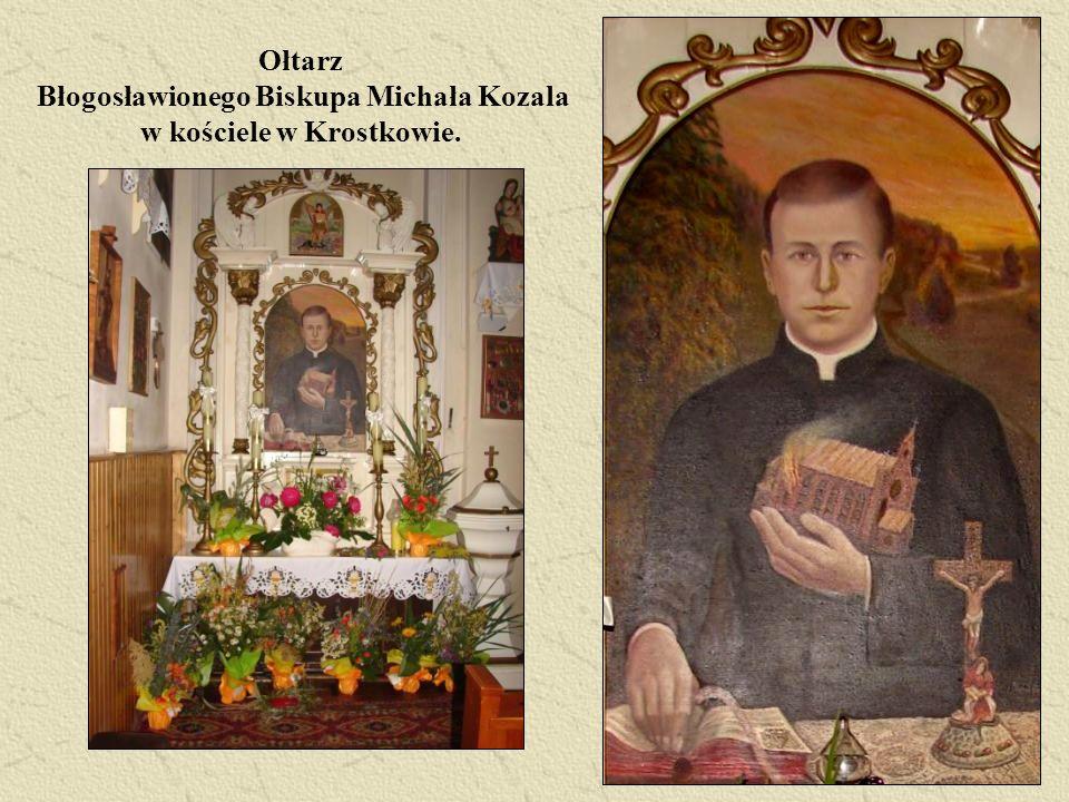 Ołtarz Błogosławionego Biskupa Michała Kozala w kościele w Krostkowie.