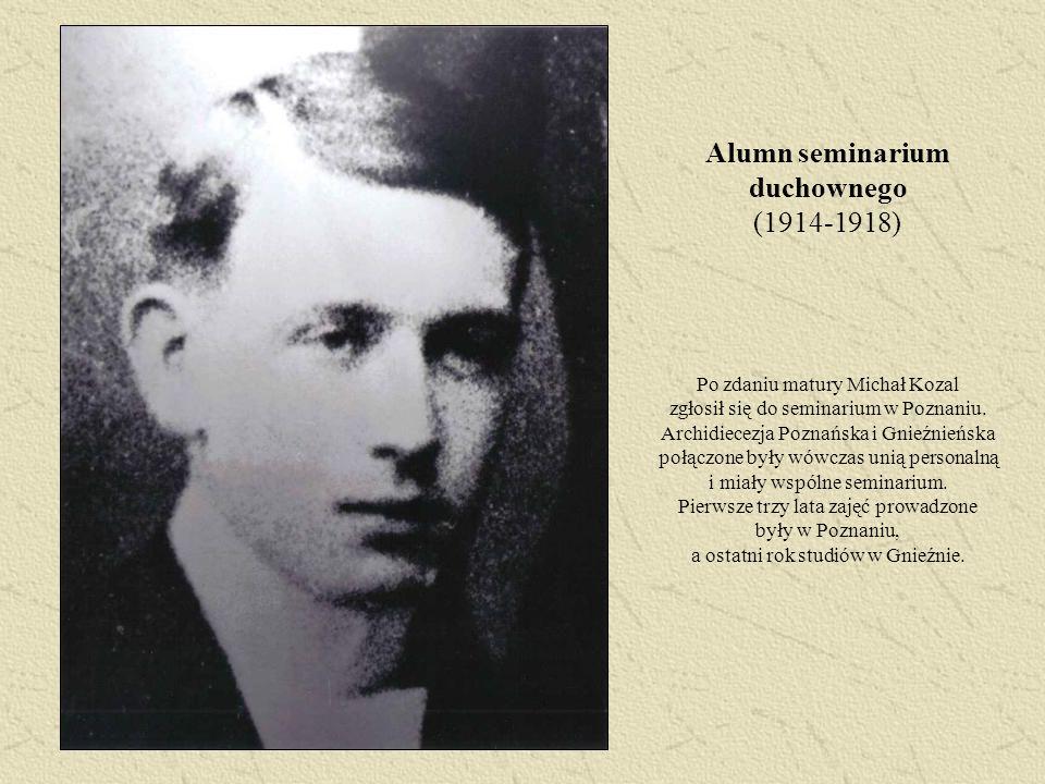 Alumn seminarium duchownego (1914-1918)