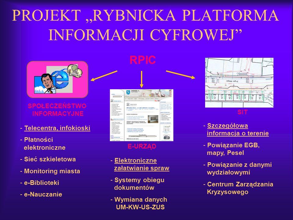 """PROJEKT """"RYBNICKA PLATFORMA INFORMACJI CYFROWEJ"""