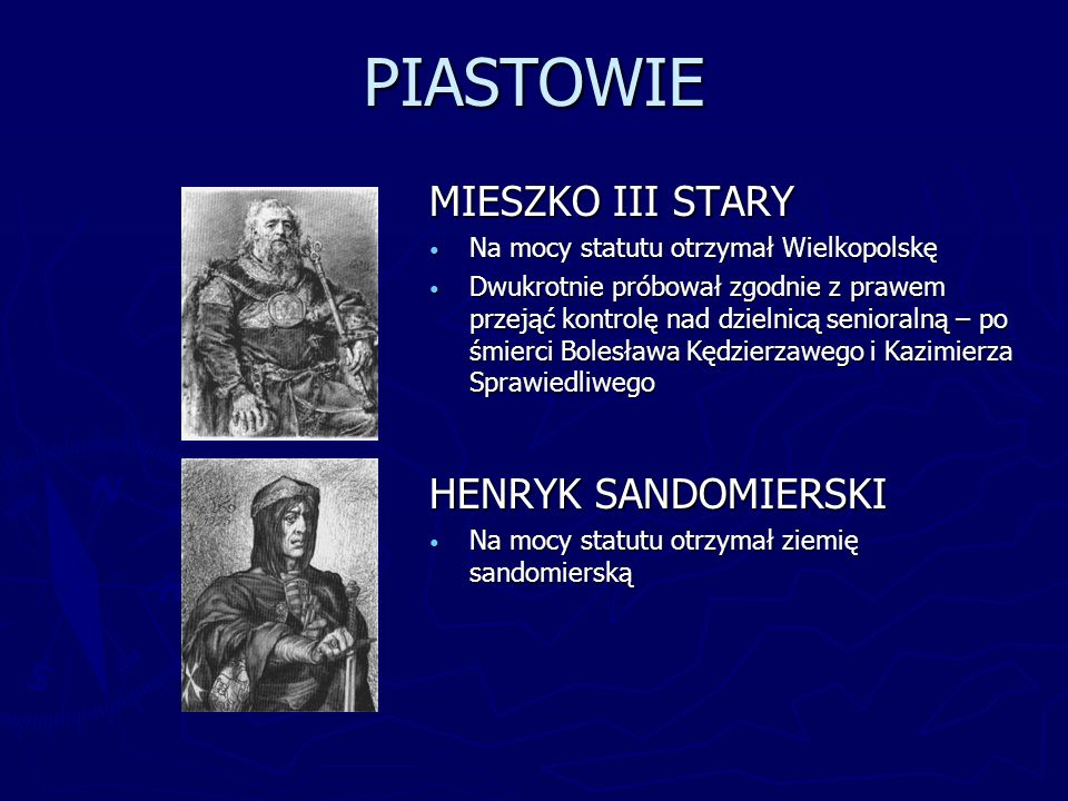 PIASTOWIE MIESZKO III STARY HENRYK SANDOMIERSKI