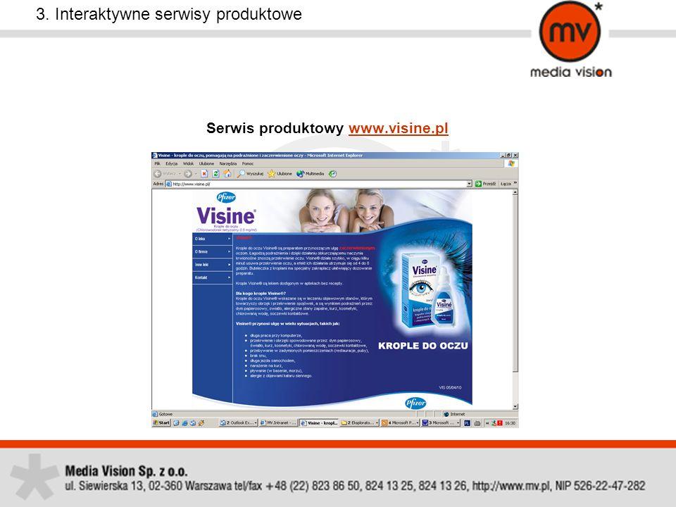 Serwis produktowy www.visine.pl