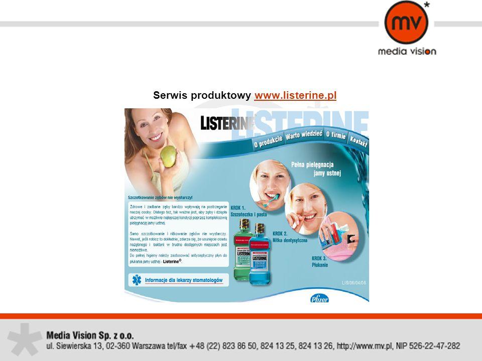 Serwis produktowy www.listerine.pl