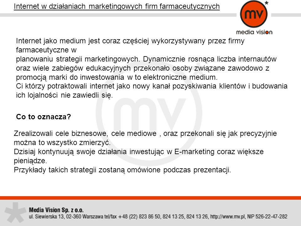 Internet w działaniach marketingowych firm farmaceutycznych