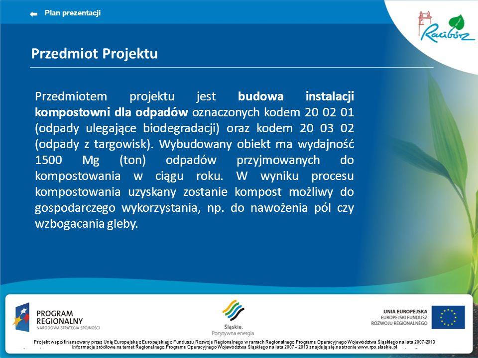 Plan prezentacji Przedmiot Projektu.