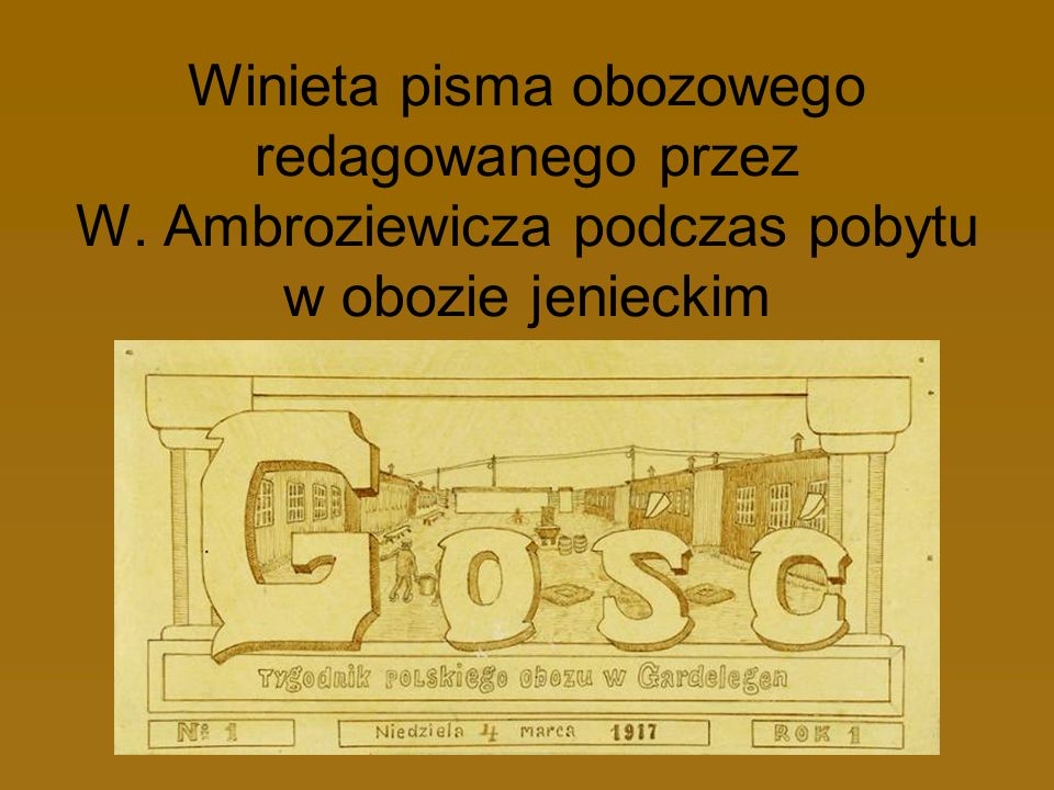 Winieta pisma obozowego redagowanego przez W
