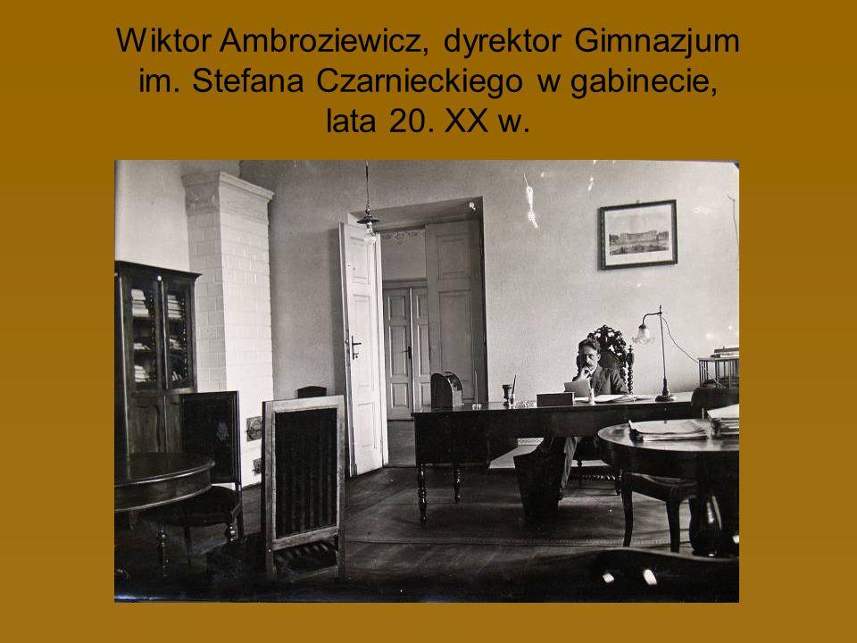 Wiktor Ambroziewicz, dyrektor Gimnazjum im