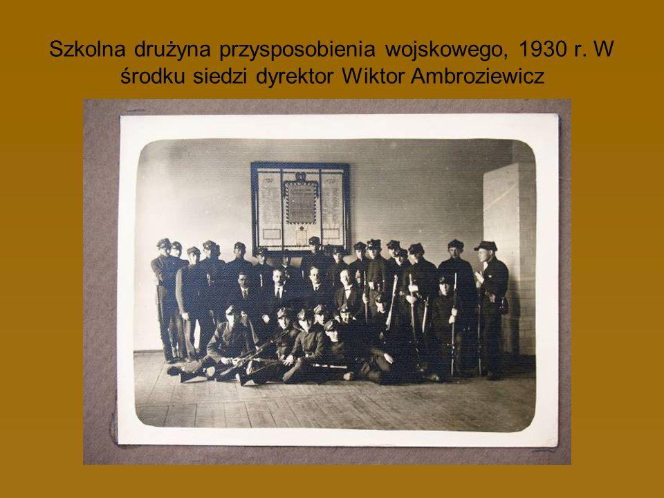 Szkolna drużyna przysposobienia wojskowego, 1930 r