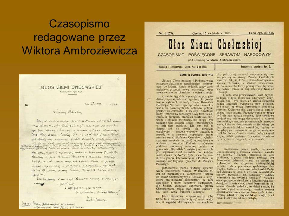 Czasopismo redagowane przez Wiktora Ambroziewicza