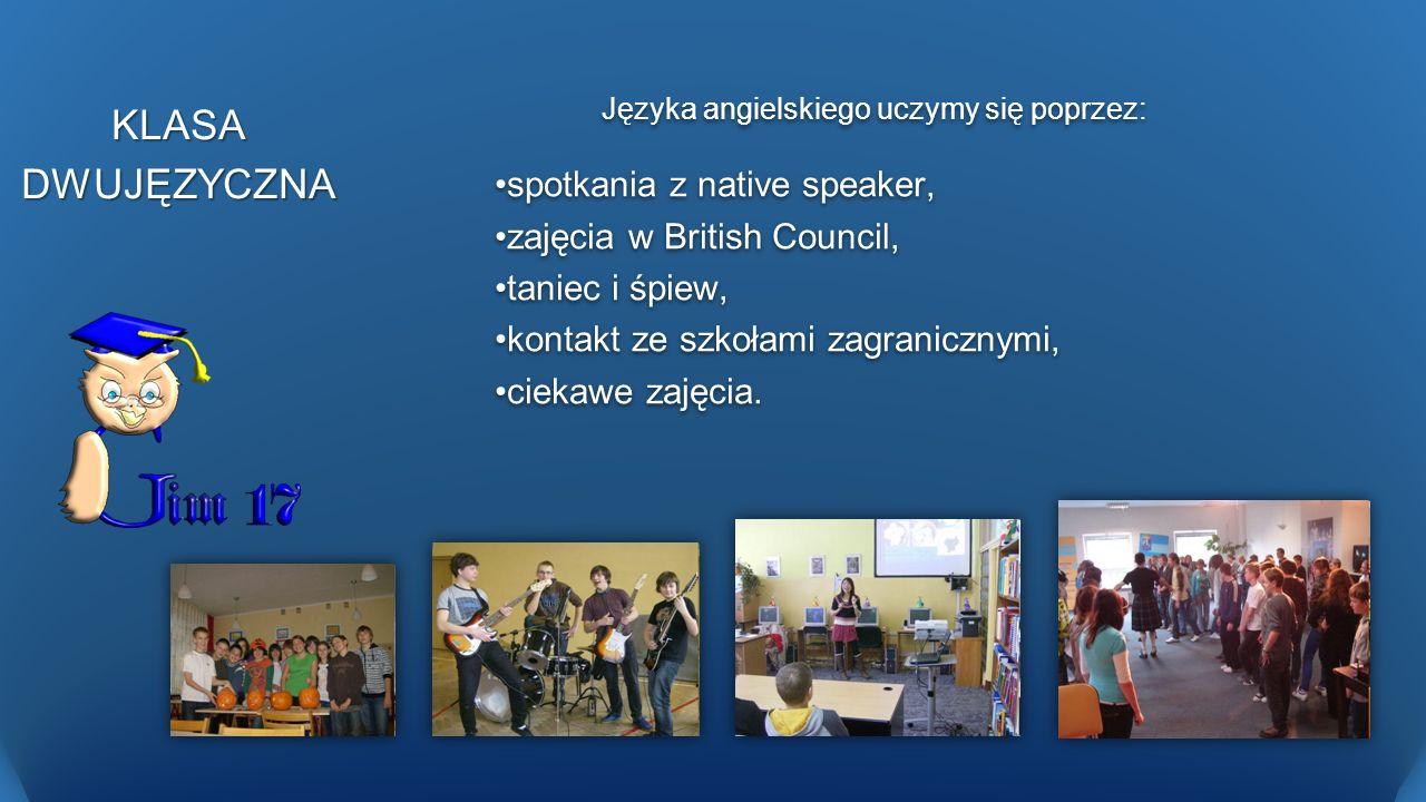 KLASA DWUJĘZYCZNA spotkania z native speaker,