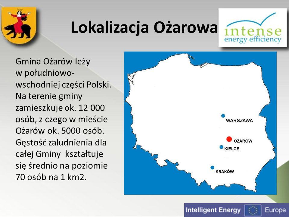 Lokalizacja Ożarowa Gmina Ożarów leży w południowo-wschodniej części Polski.