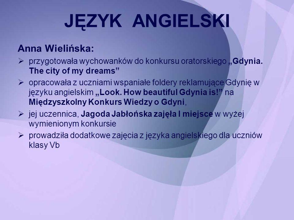 JĘZYK ANGIELSKI Anna Wielińska: