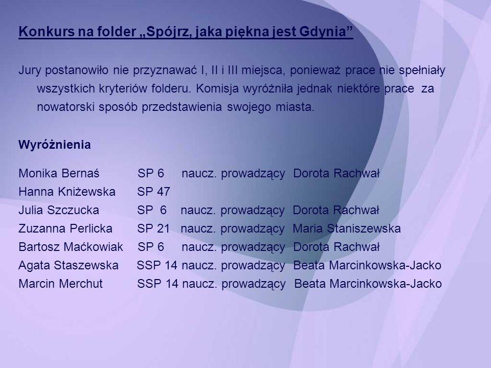 "Konkurs na folder ""Spójrz, jaka piękna jest Gdynia"
