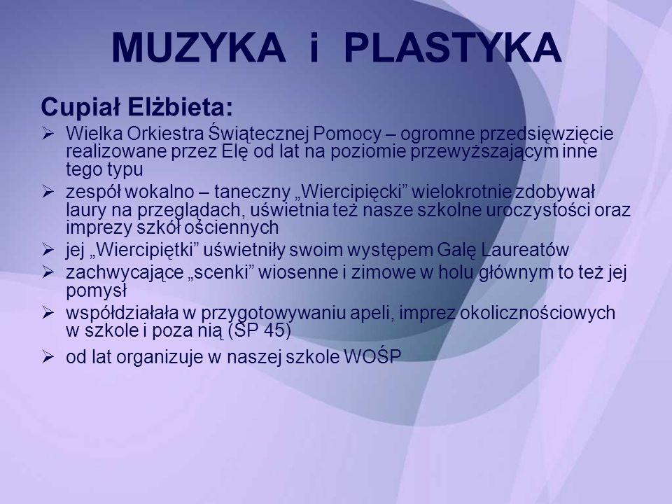 MUZYKA i PLASTYKA Cupiał Elżbieta: