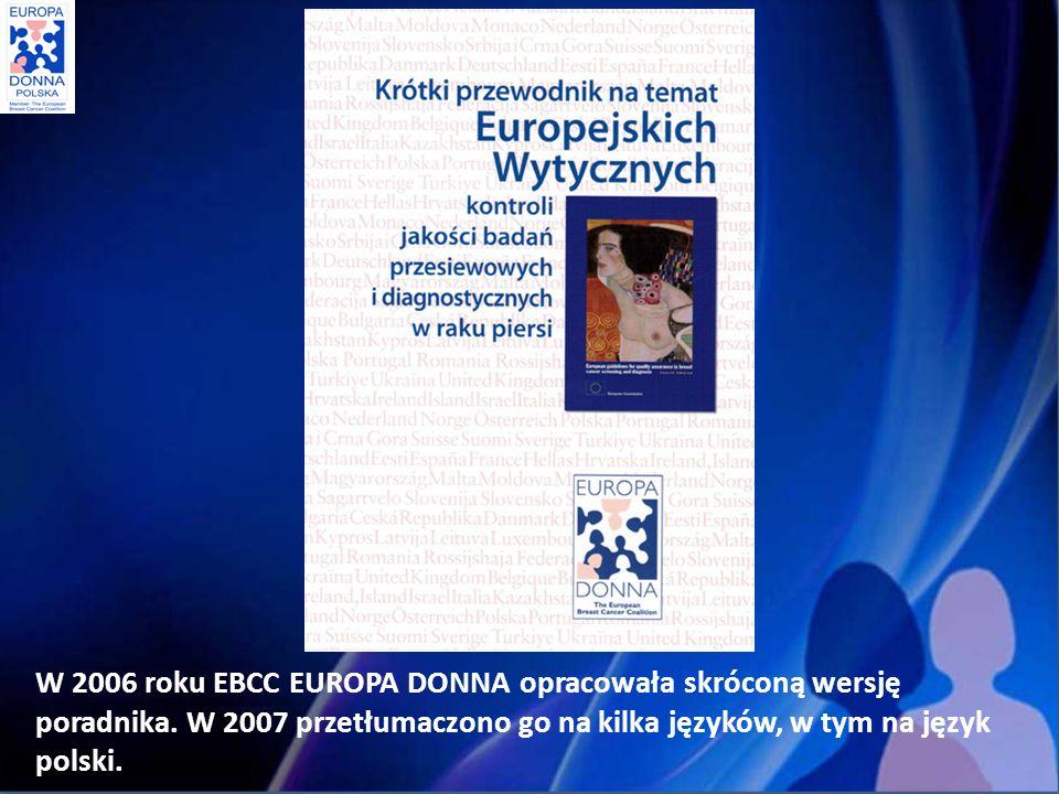 W 2006 roku EBCC EUROPA DONNA opracowała skróconą wersję poradnika