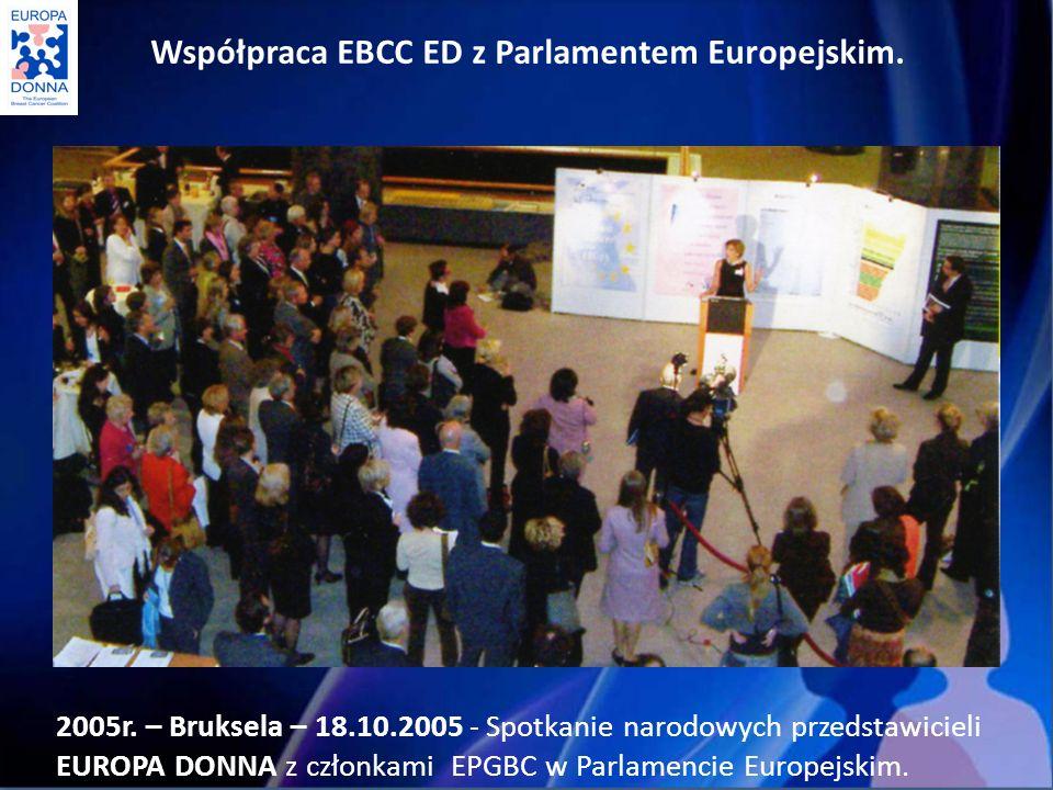 Współpraca EBCC ED z Parlamentem Europejskim.