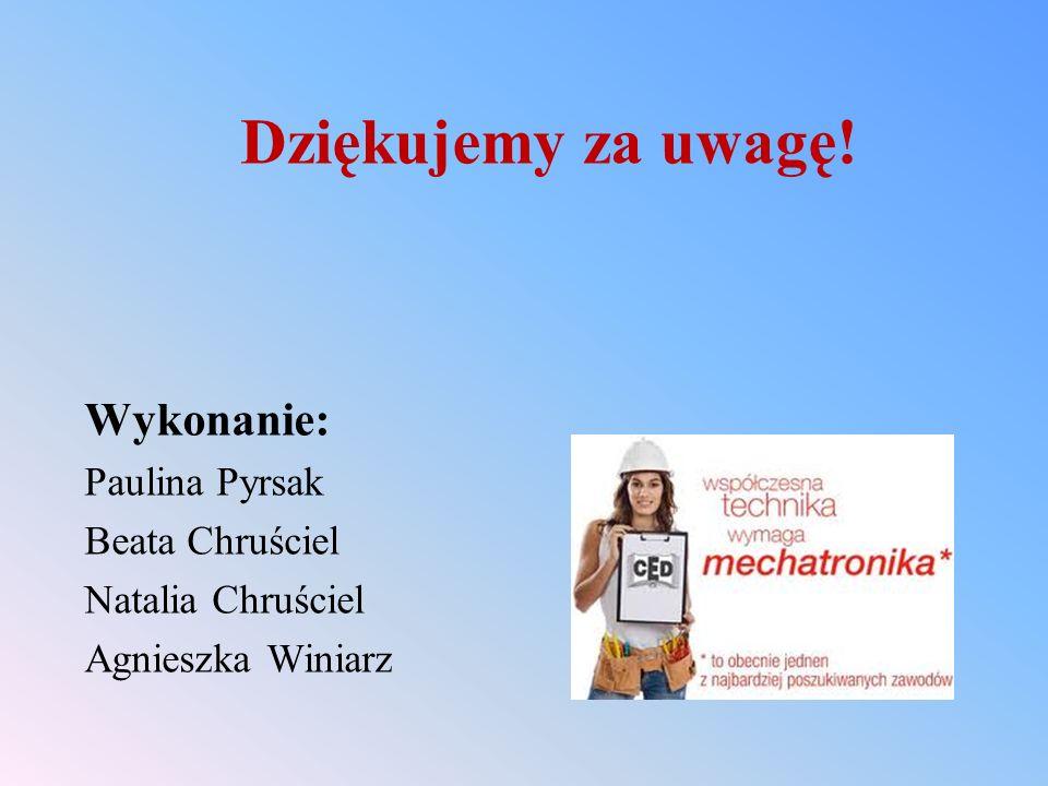 Dziękujemy za uwagę! Wykonanie: Paulina Pyrsak Beata Chruściel