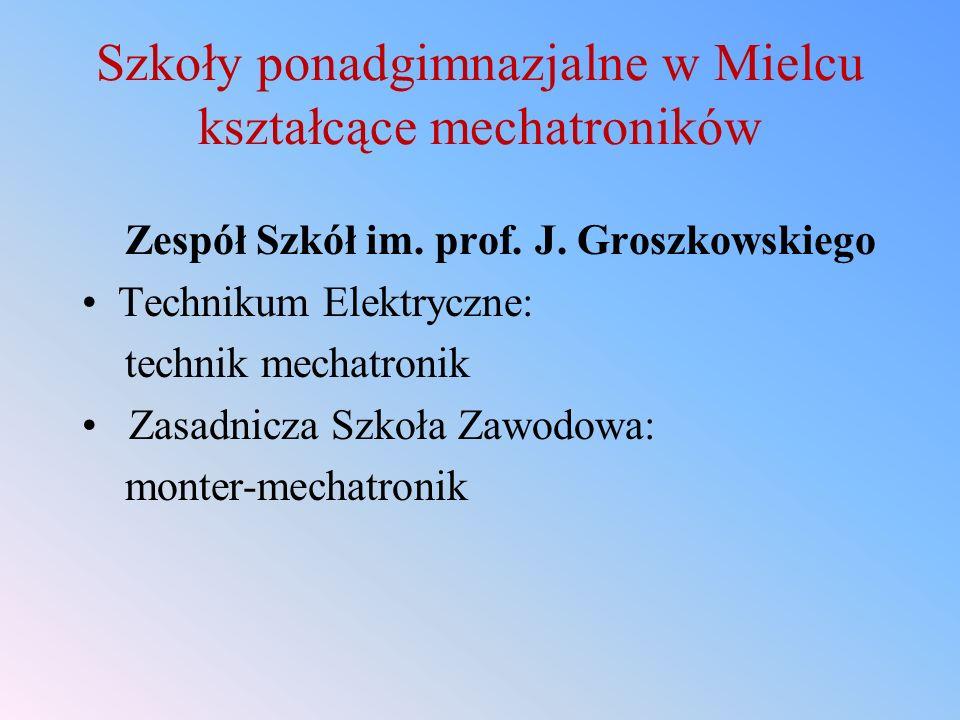 Szkoły ponadgimnazjalne w Mielcu kształcące mechatroników