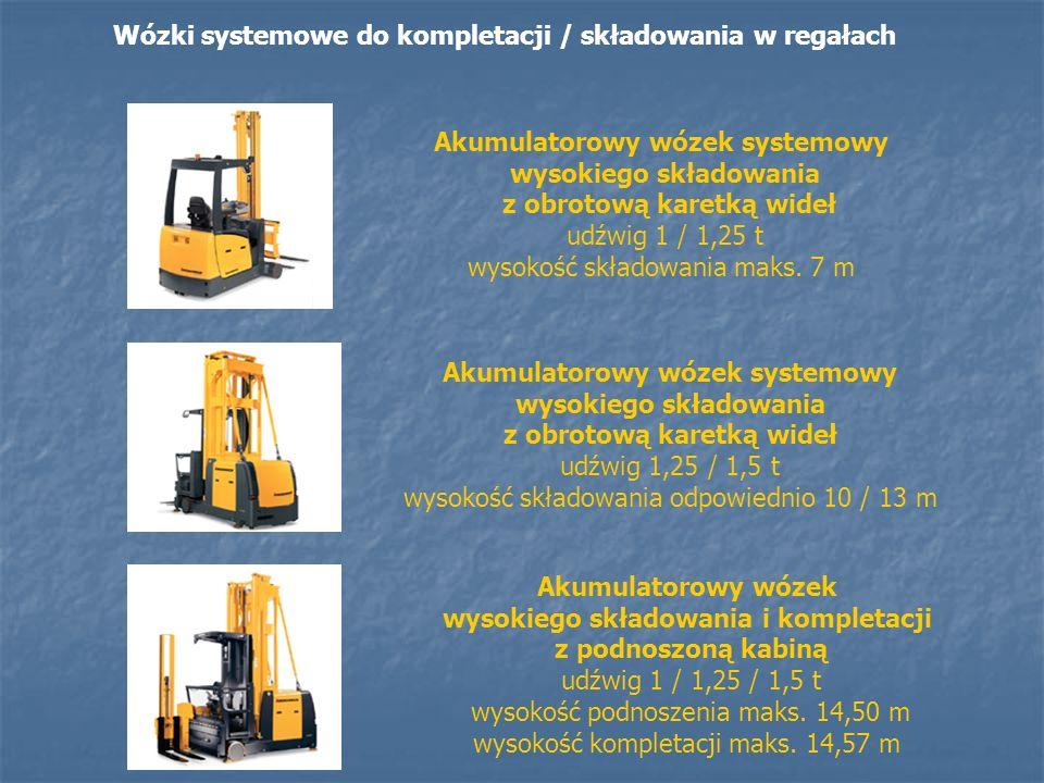 Wózki systemowe do kompletacji / składowania w regałach