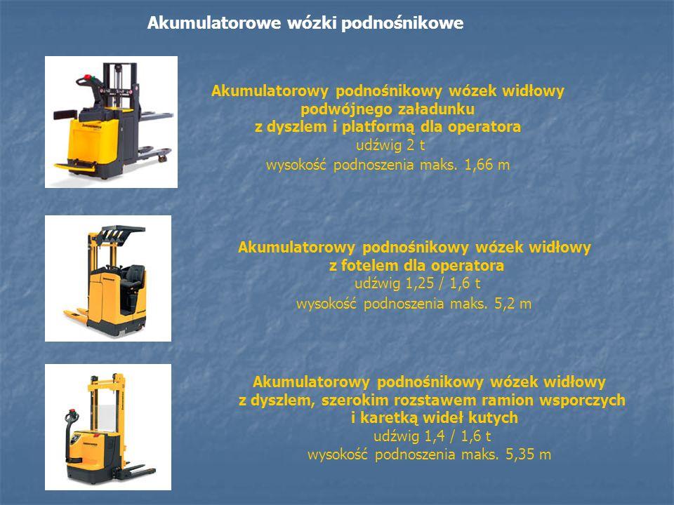 Akumulatorowe wózki podnośnikowe