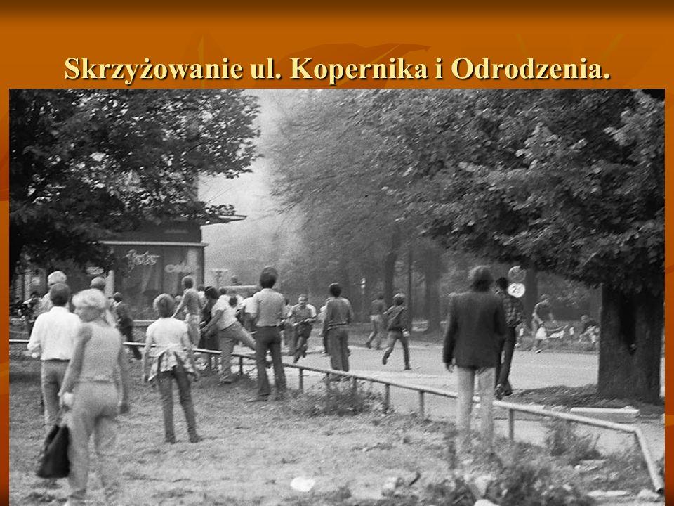 Skrzyżowanie ul. Kopernika i Odrodzenia.