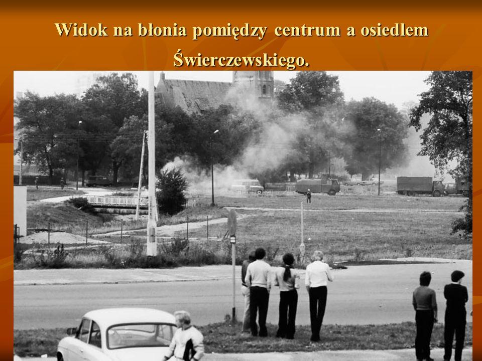 Widok na błonia pomiędzy centrum a osiedlem Świerczewskiego.