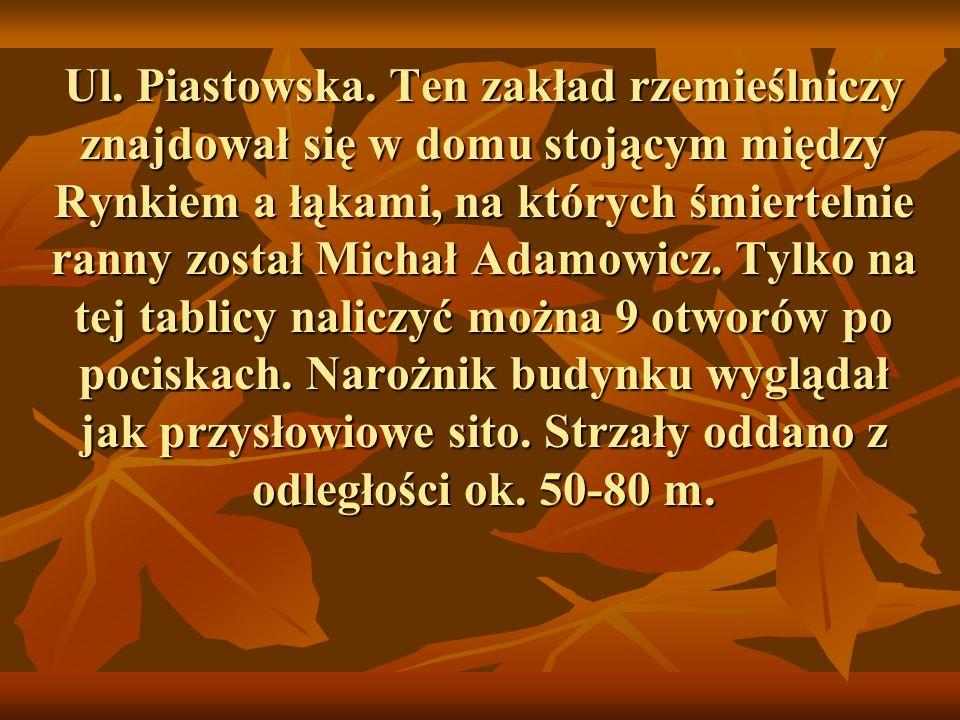 Ul. Piastowska.