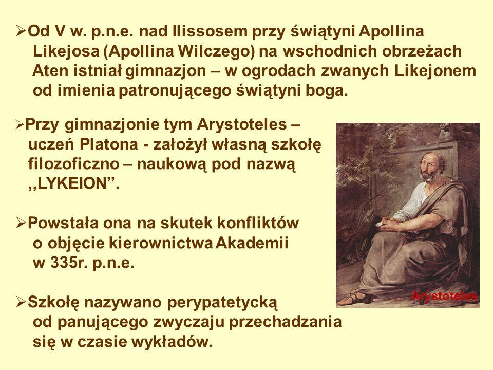 Od V w. p.n.e. nad Ilissosem przy świątyni Apollina