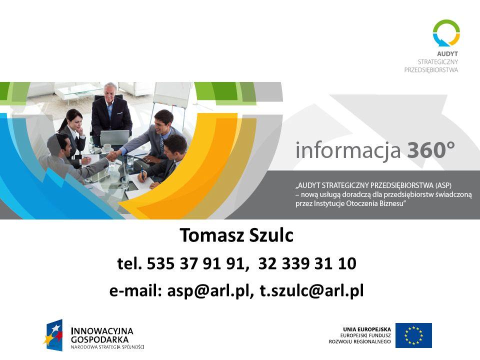 e-mail: asp@arl.pl, t.szulc@arl.pl