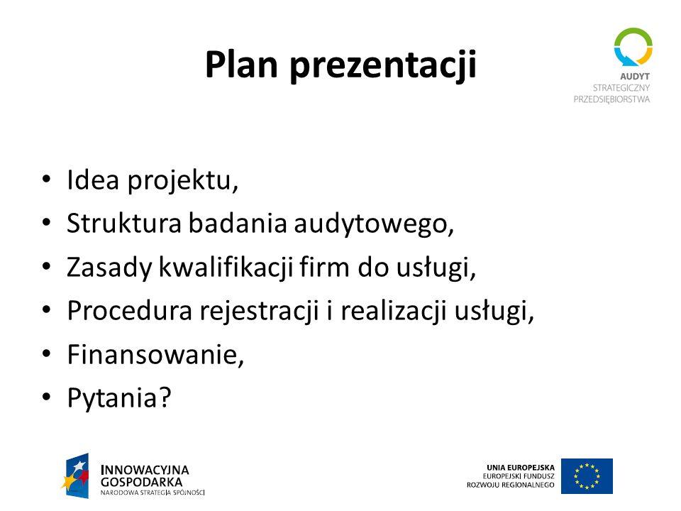 Plan prezentacji Idea projektu, Struktura badania audytowego,