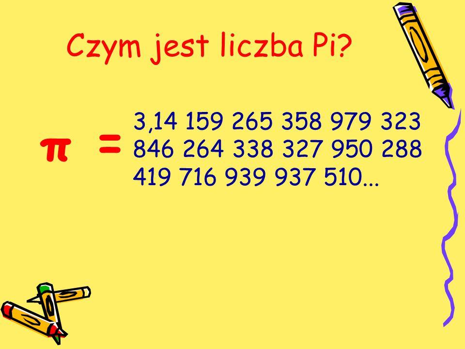 Czym jest liczba Pi 3,14 159 265 358 979 323 846 264 338 327 950 288 419 716 939 937 510... π =