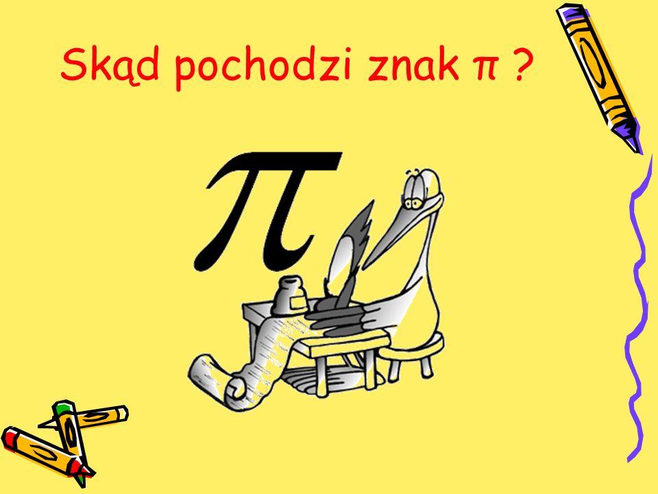 Skąd pochodzi znak π