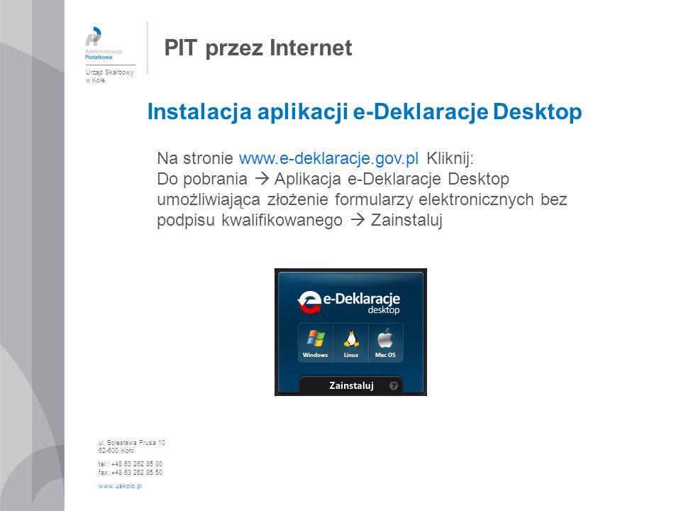 Instalacja aplikacji e-Deklaracje Desktop
