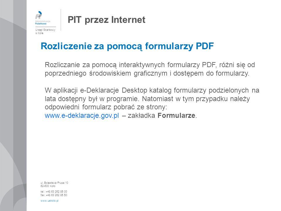 Rozliczenie za pomocą formularzy PDF