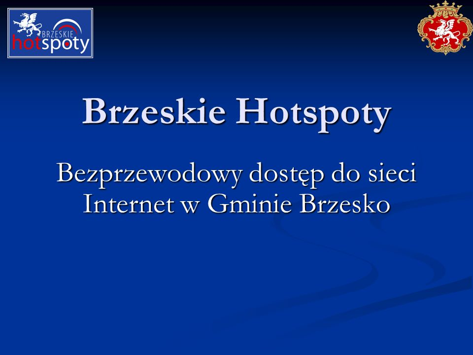 Bezprzewodowy dostęp do sieci Internet w Gminie Brzesko