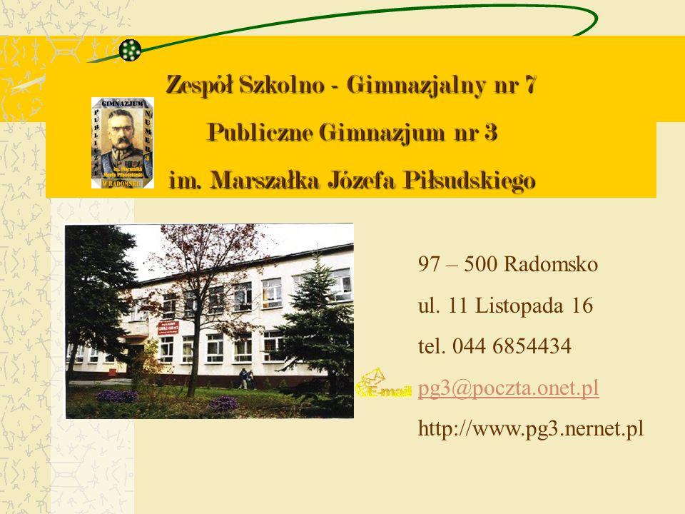 Zespół Szkolno - Gimnazjalny nr 7 Publiczne Gimnazjum nr 3