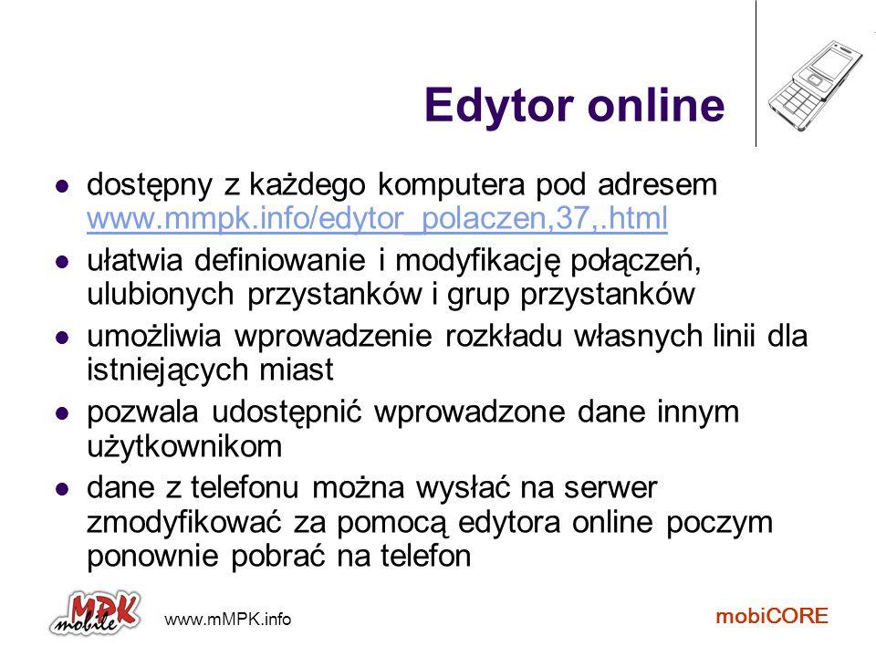 Edytor online dostępny z każdego komputera pod adresem www.mmpk.info/edytor_polaczen,37,.html.