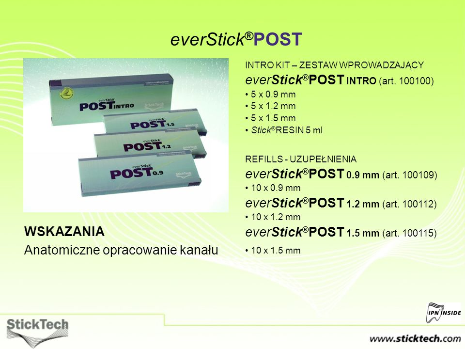 everStick®POST everStick®POST INTRO (art. 100100)