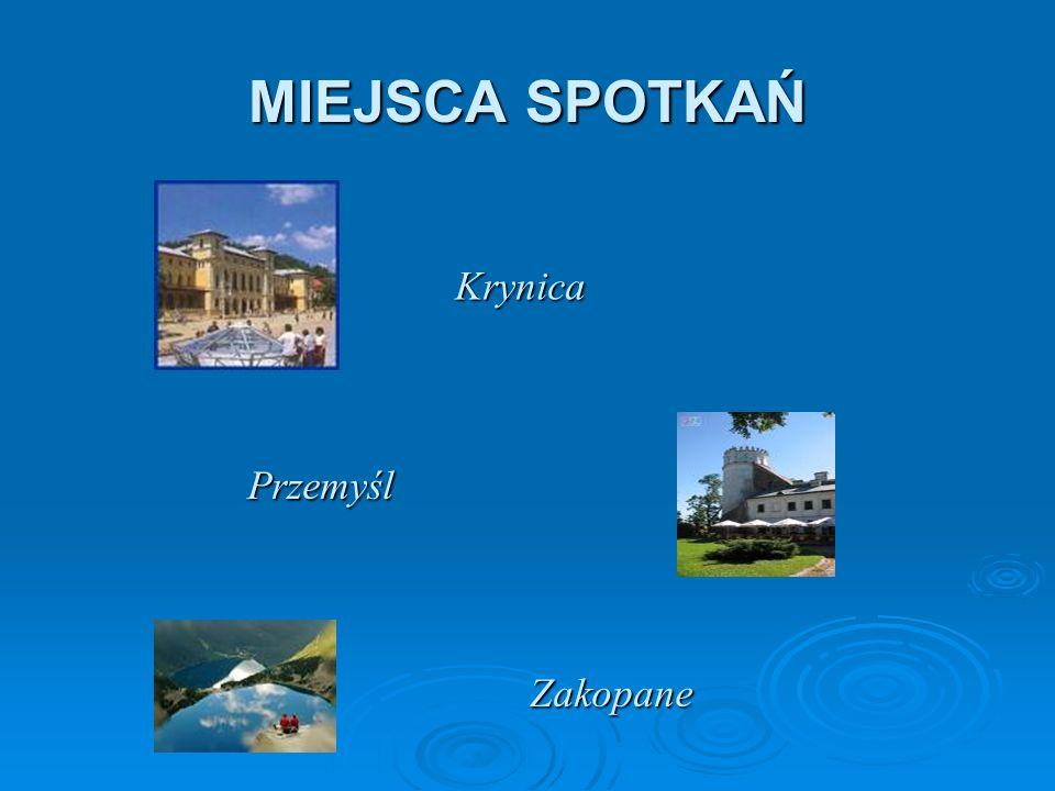MIEJSCA SPOTKAŃ Krynica Przemyśl Zakopane