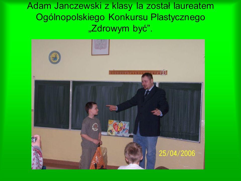 """Adam Janczewski z klasy Ia został laureatem Ogólnopolskiego Konkursu Plastycznego """"Zdrowym być ."""