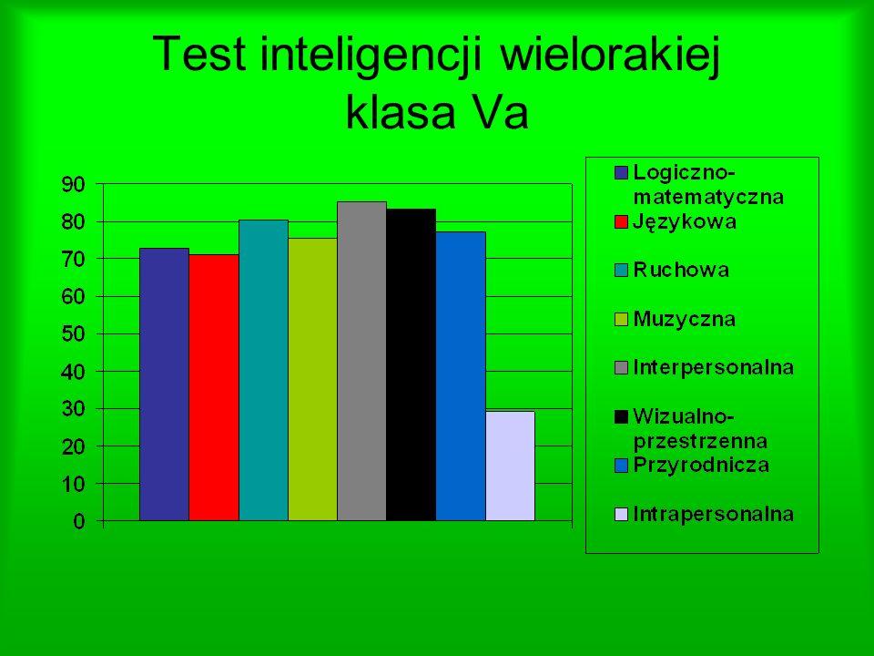 Test inteligencji wielorakiej klasa Va