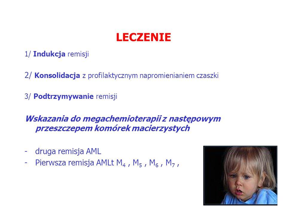 LECZENIE 2/ Konsolidacja z profilaktycznym napromienianiem czaszki