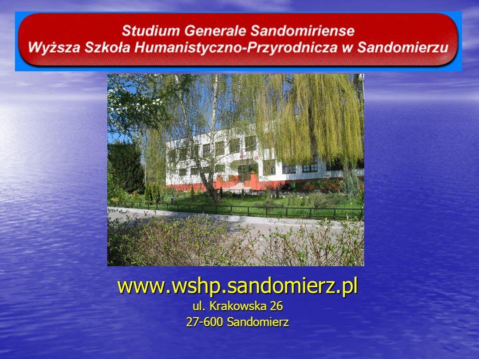 www.wshp.sandomierz.pl ul. Krakowska 26 27-600 Sandomierz