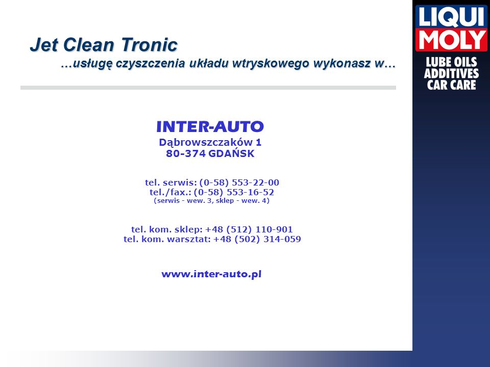 Jet Clean Tronic INTER-AUTO