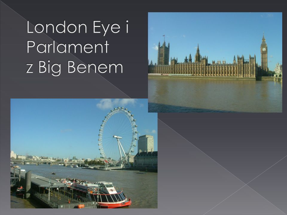 London Eye i Parlament z Big Benem