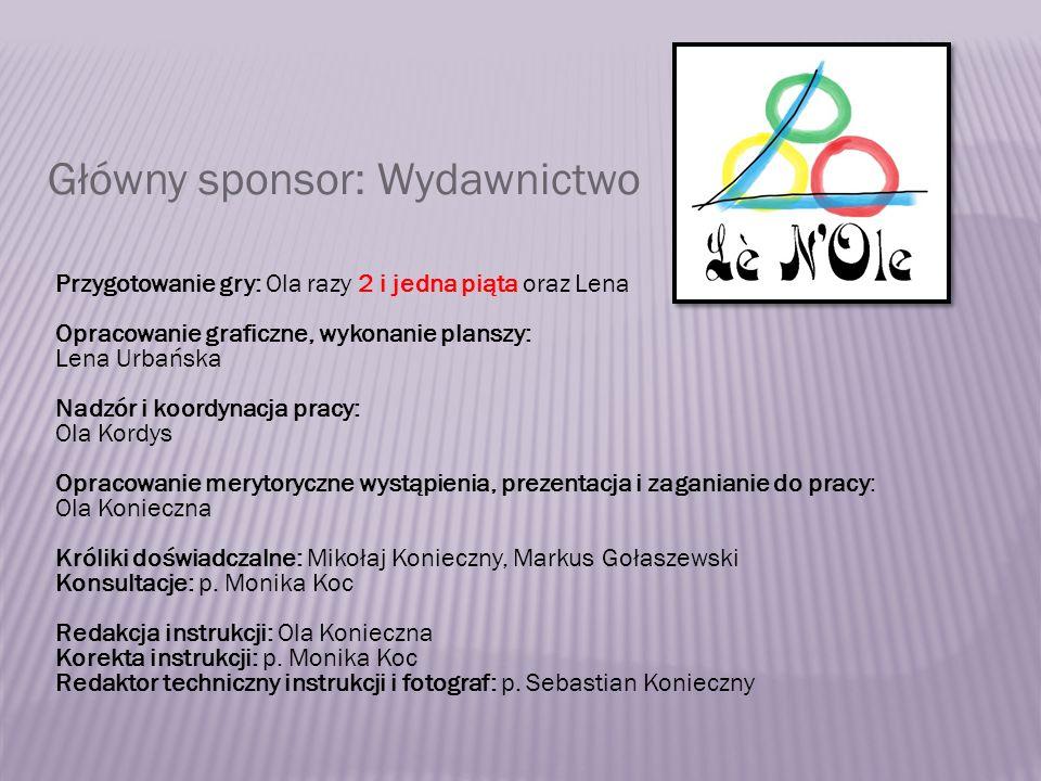 Główny sponsor: Wydawnictwo