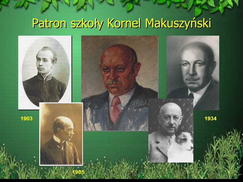 Patron szkoły Kornel Makuszyński