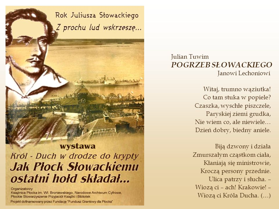 Julian Tuwim POGRZEB SŁOWACKIEGO Janowi Lechoniowi