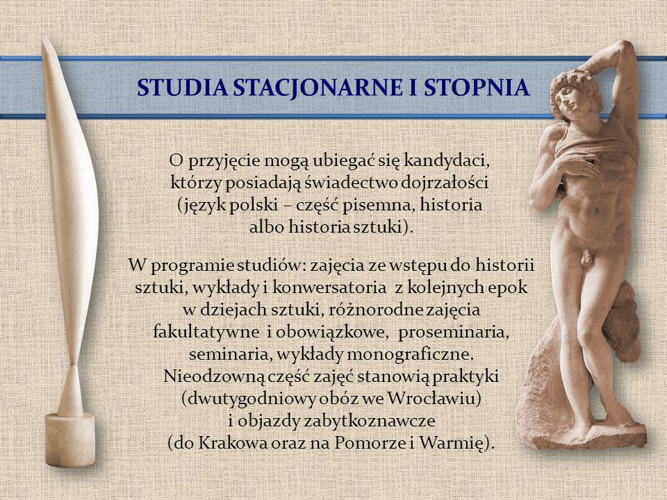 STUDIA STACJONARNE I STOPNIA