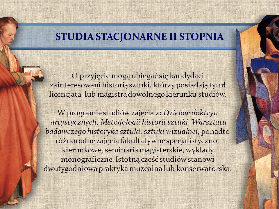 STUDIA STACJONARNE II STOPNIA