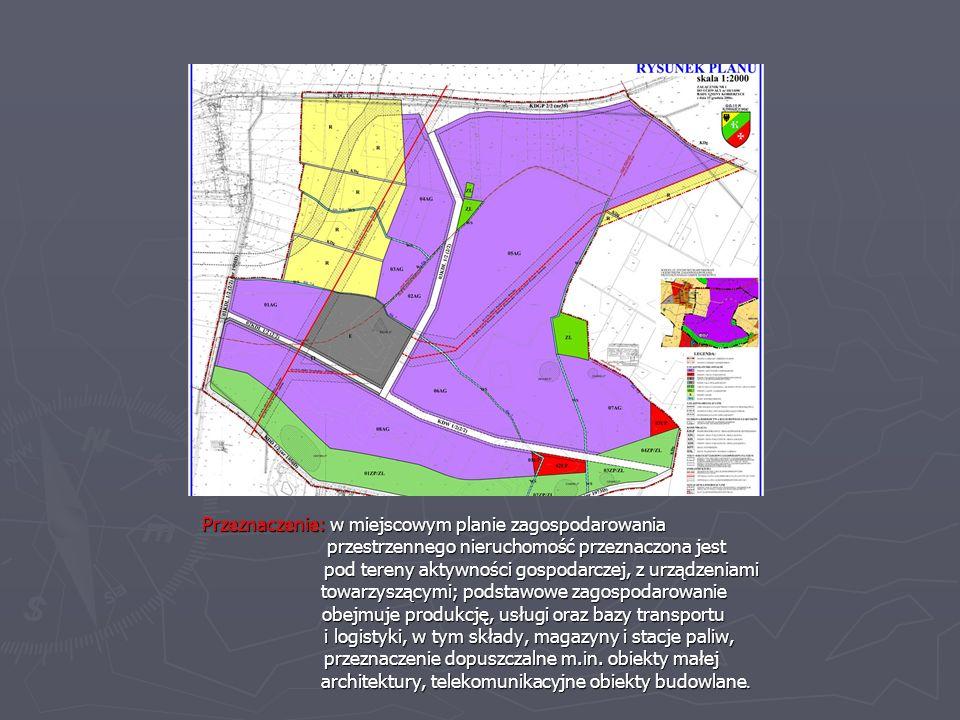 Przeznaczenie: w miejscowym planie zagospodarowania